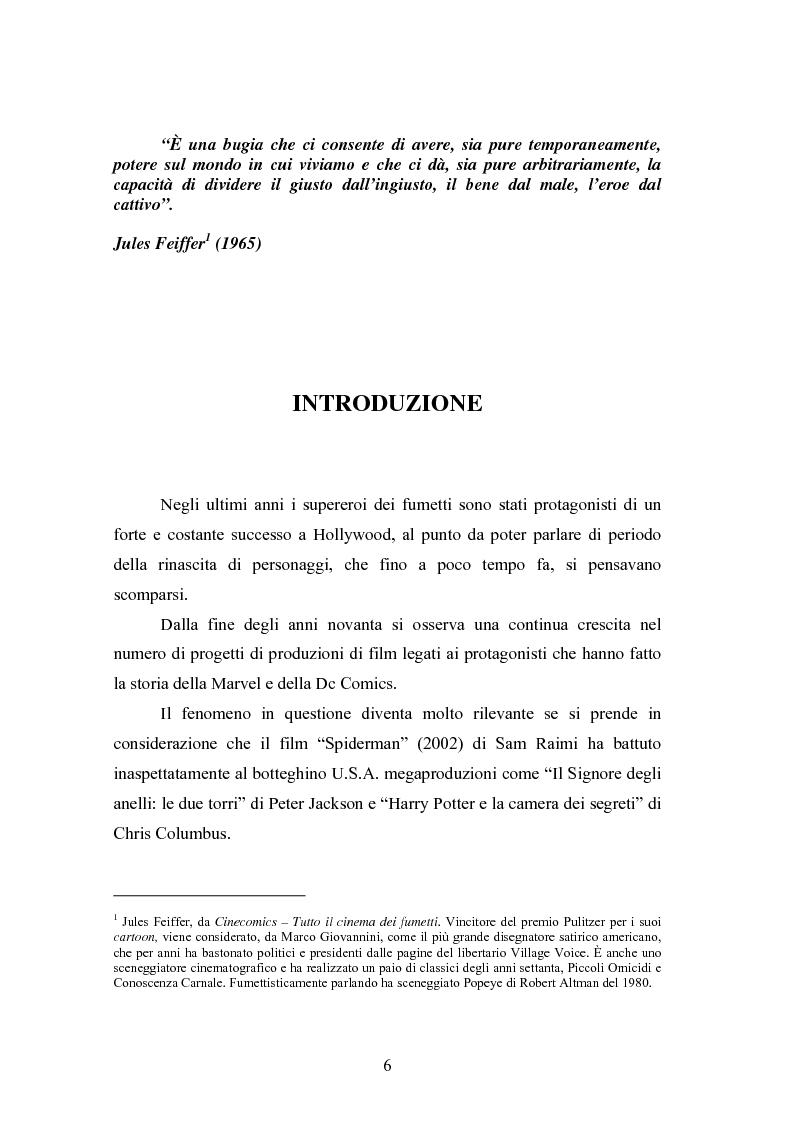 Anteprima della tesi: Il cinema come strumento di risanamento delle case editrici di fumetti: la Marvel, Pagina 1