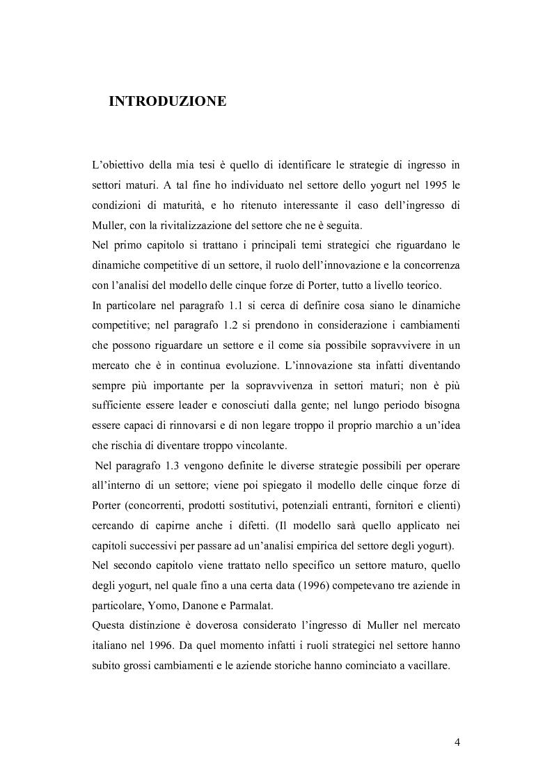 Anteprima della tesi: Le dinamiche competitive e le strategie di ingresso nel settore degli yogurt: il ruolo dell'innovazione dei modelli di business, Pagina 1