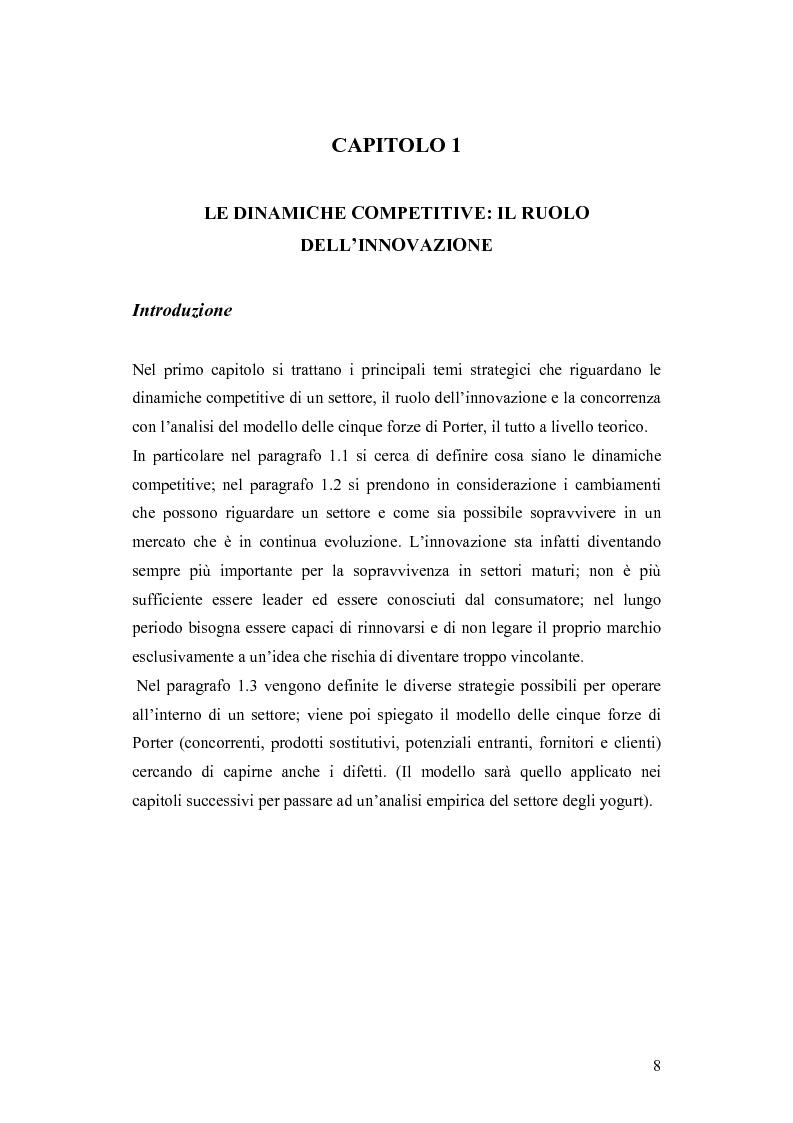 Anteprima della tesi: Le dinamiche competitive e le strategie di ingresso nel settore degli yogurt: il ruolo dell'innovazione dei modelli di business, Pagina 5