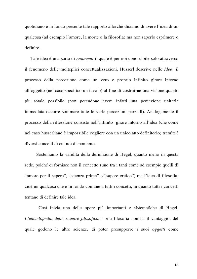Anteprima della tesi: Husserl storico della filosofia, Pagina 14