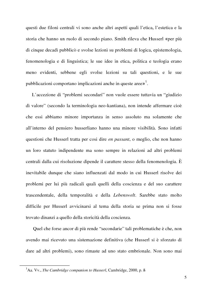 Anteprima della tesi: Husserl storico della filosofia, Pagina 3