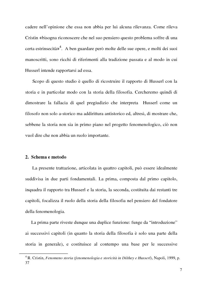 Anteprima della tesi: Husserl storico della filosofia, Pagina 5