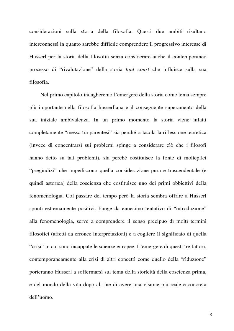 Anteprima della tesi: Husserl storico della filosofia, Pagina 6