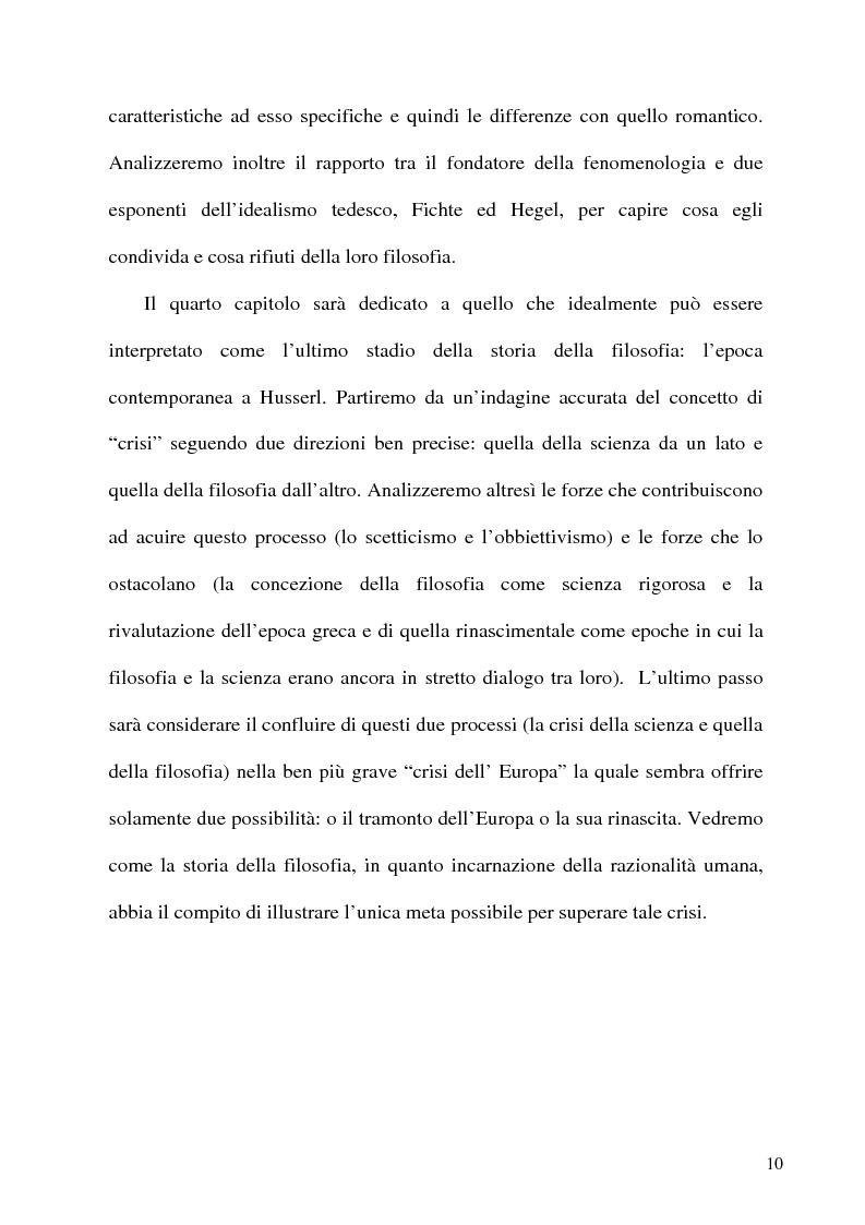Anteprima della tesi: Husserl storico della filosofia, Pagina 8
