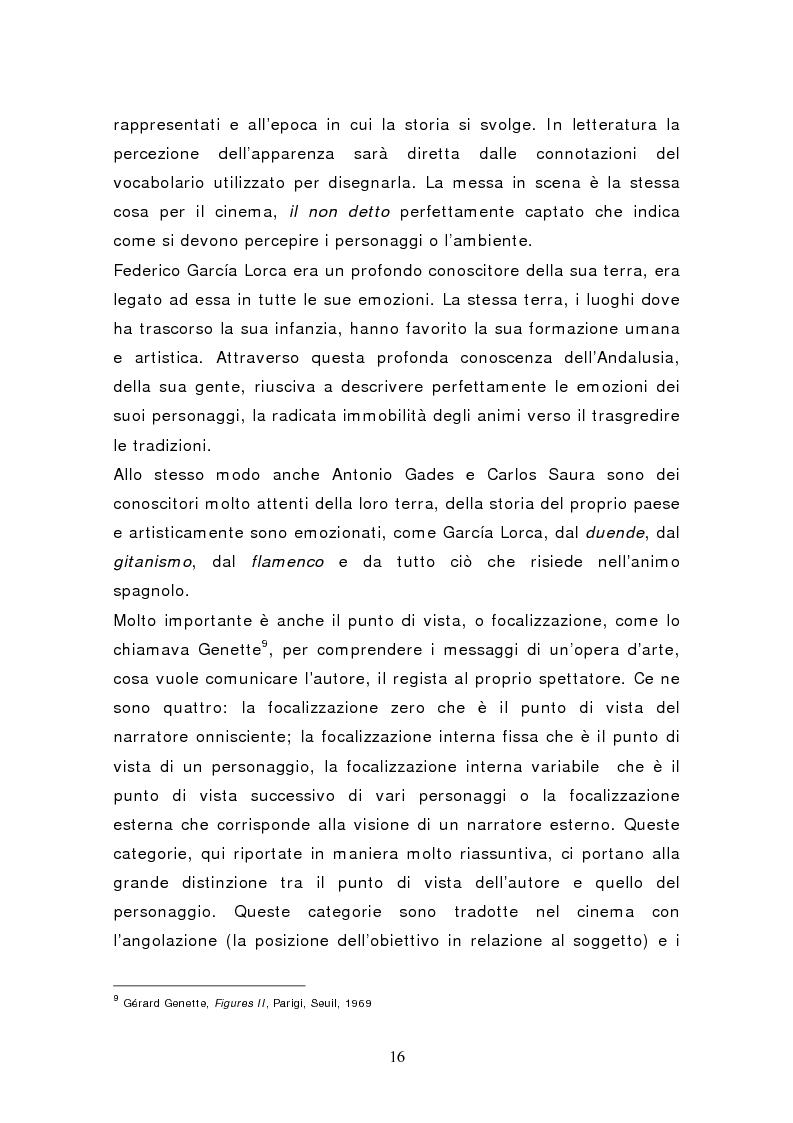 Anteprima della tesi: Federico García Lorca: Bodas de Sangre, dal testo letterario al testo filmico, Pagina 11