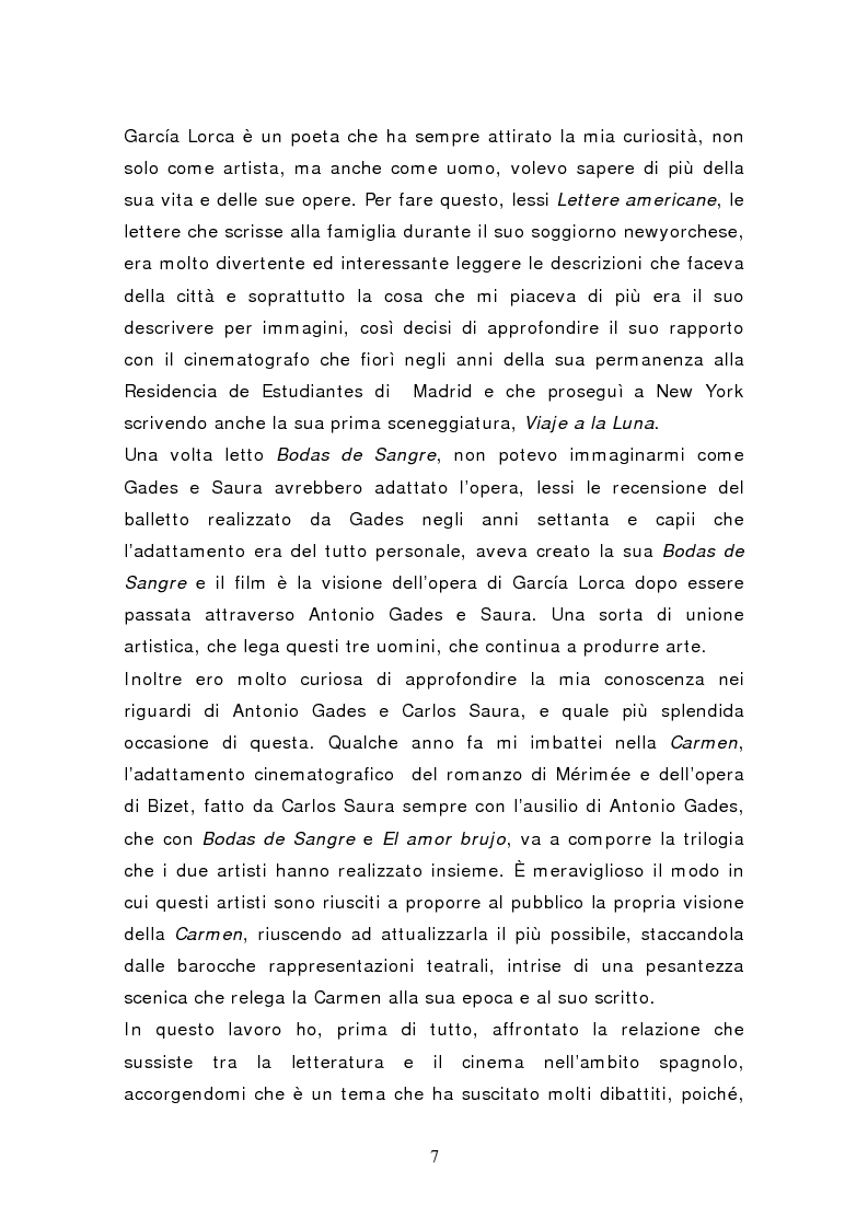Anteprima della tesi: Federico García Lorca: Bodas de Sangre, dal testo letterario al testo filmico, Pagina 2