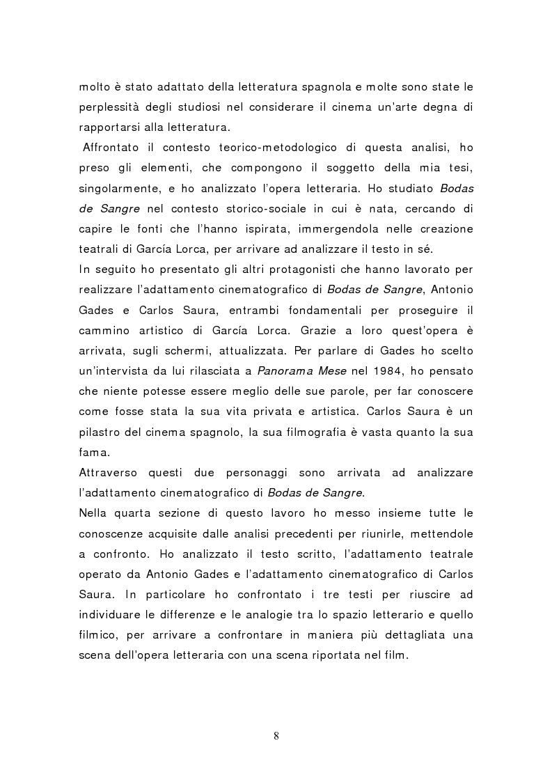 Anteprima della tesi: Federico García Lorca: Bodas de Sangre, dal testo letterario al testo filmico, Pagina 3