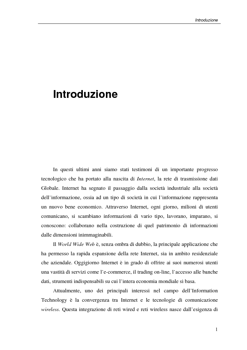 Anteprima della tesi: Un protocollo ARQ adattativo per reti WirelessMAN mobili – IEEE 802.16e, Pagina 1