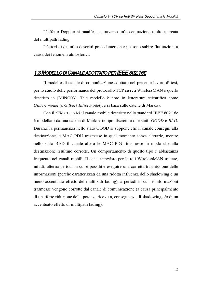 Anteprima della tesi: Un protocollo ARQ adattativo per reti WirelessMAN mobili – IEEE 802.16e, Pagina 12