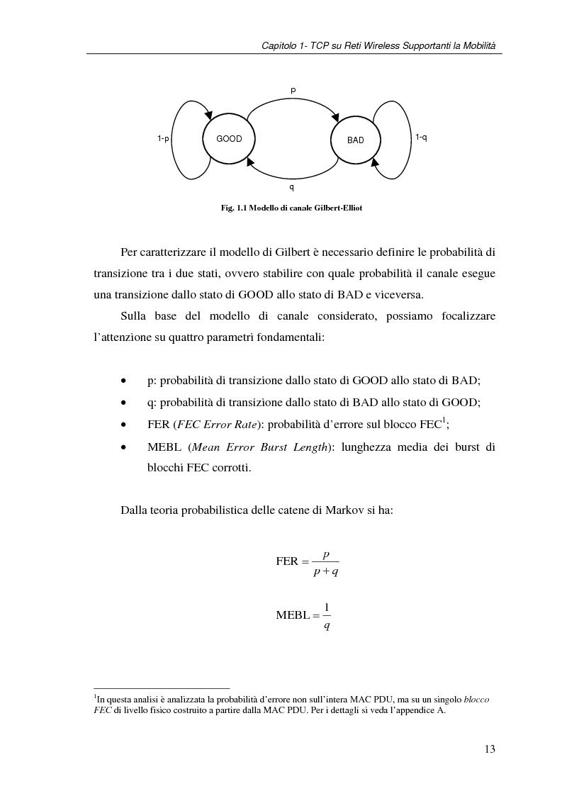 Anteprima della tesi: Un protocollo ARQ adattativo per reti WirelessMAN mobili – IEEE 802.16e, Pagina 13