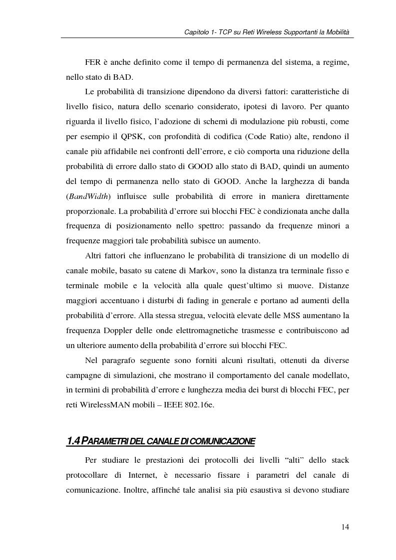 Anteprima della tesi: Un protocollo ARQ adattativo per reti WirelessMAN mobili – IEEE 802.16e, Pagina 14