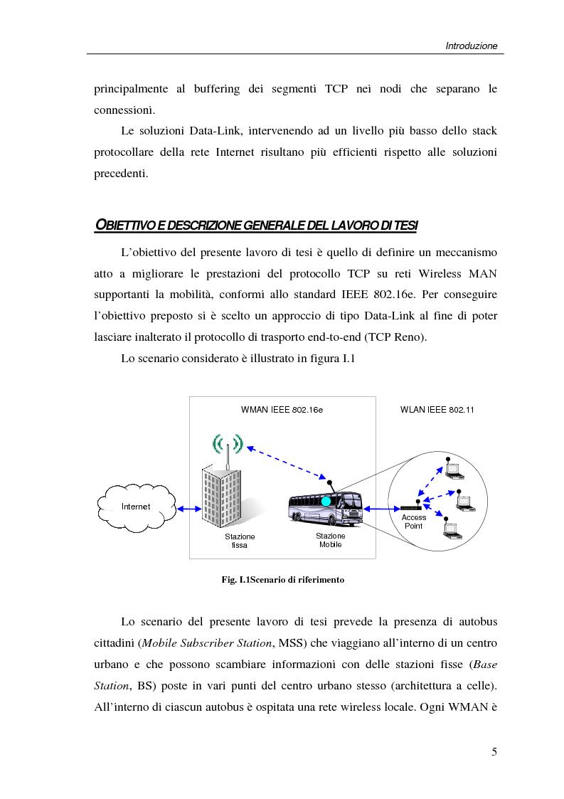 Anteprima della tesi: Un protocollo ARQ adattativo per reti WirelessMAN mobili – IEEE 802.16e, Pagina 5