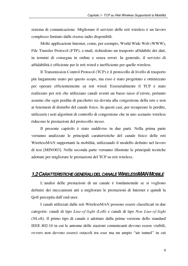 Anteprima della tesi: Un protocollo ARQ adattativo per reti WirelessMAN mobili – IEEE 802.16e, Pagina 9