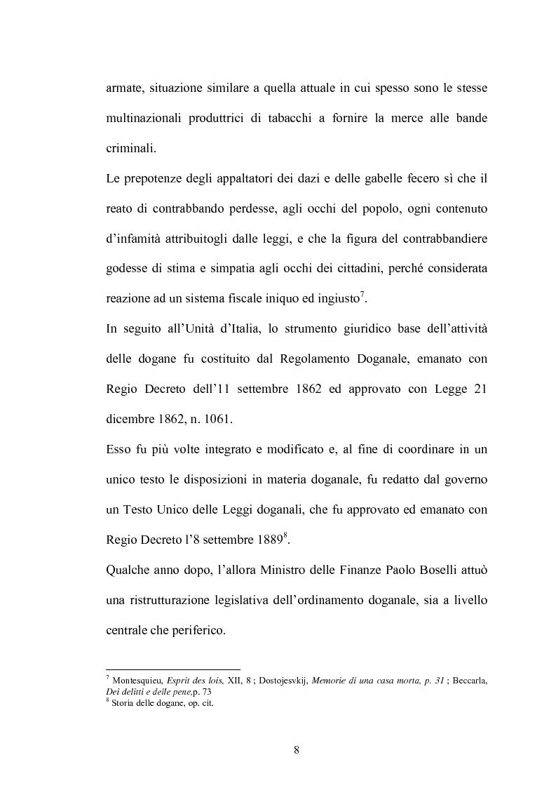 Anteprima della tesi: Il contrabbando di tabacchi lavorati esteri ex art. 291bis, Pagina 4