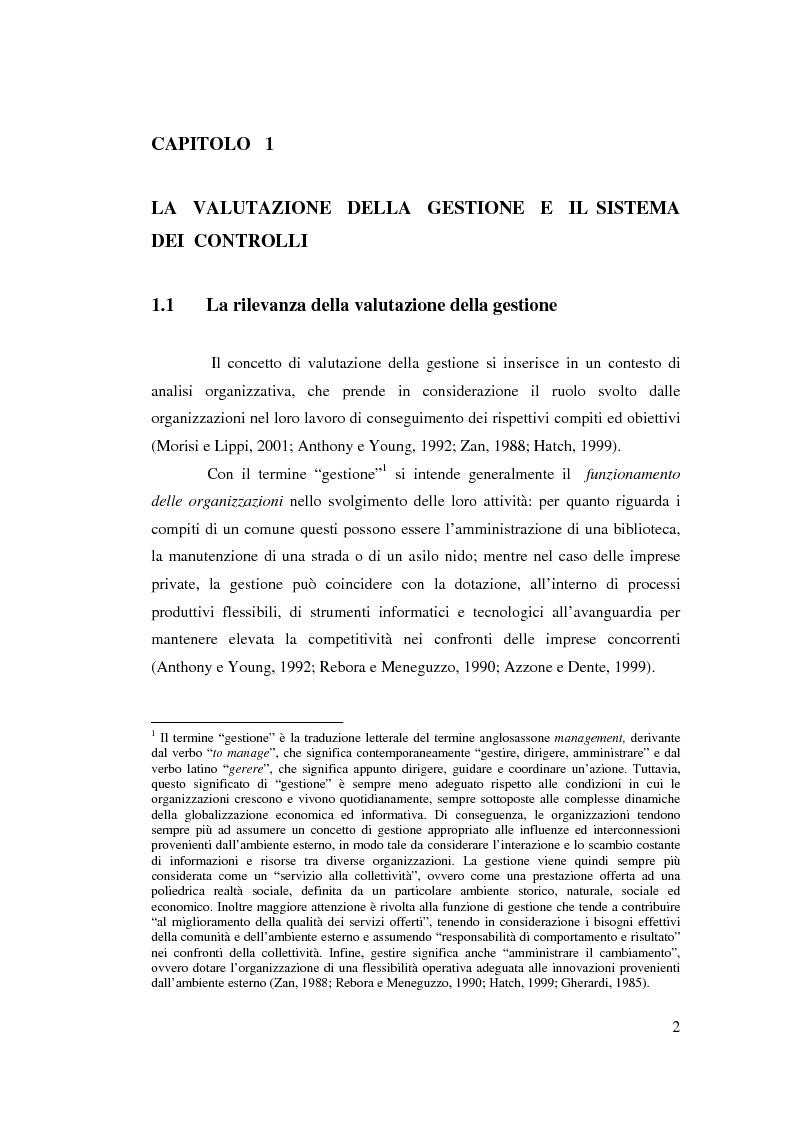 Anteprima della tesi: Il controllo di gestione nell'amministrazione del governo locale, Pagina 8