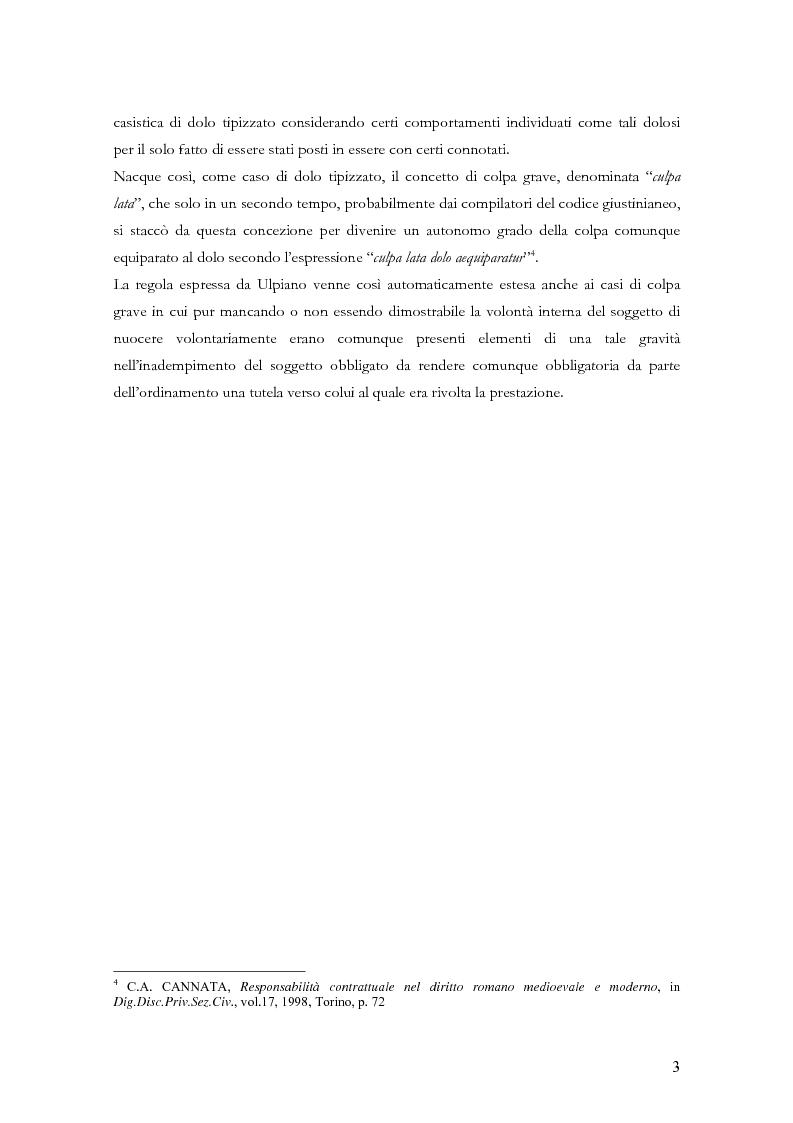 Anteprima della tesi: Le clausole di esclusione e di limitazione della responsabilità, Pagina 3