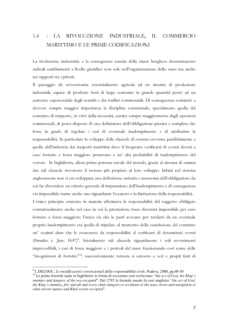 Anteprima della tesi: Le clausole di esclusione e di limitazione della responsabilità, Pagina 5