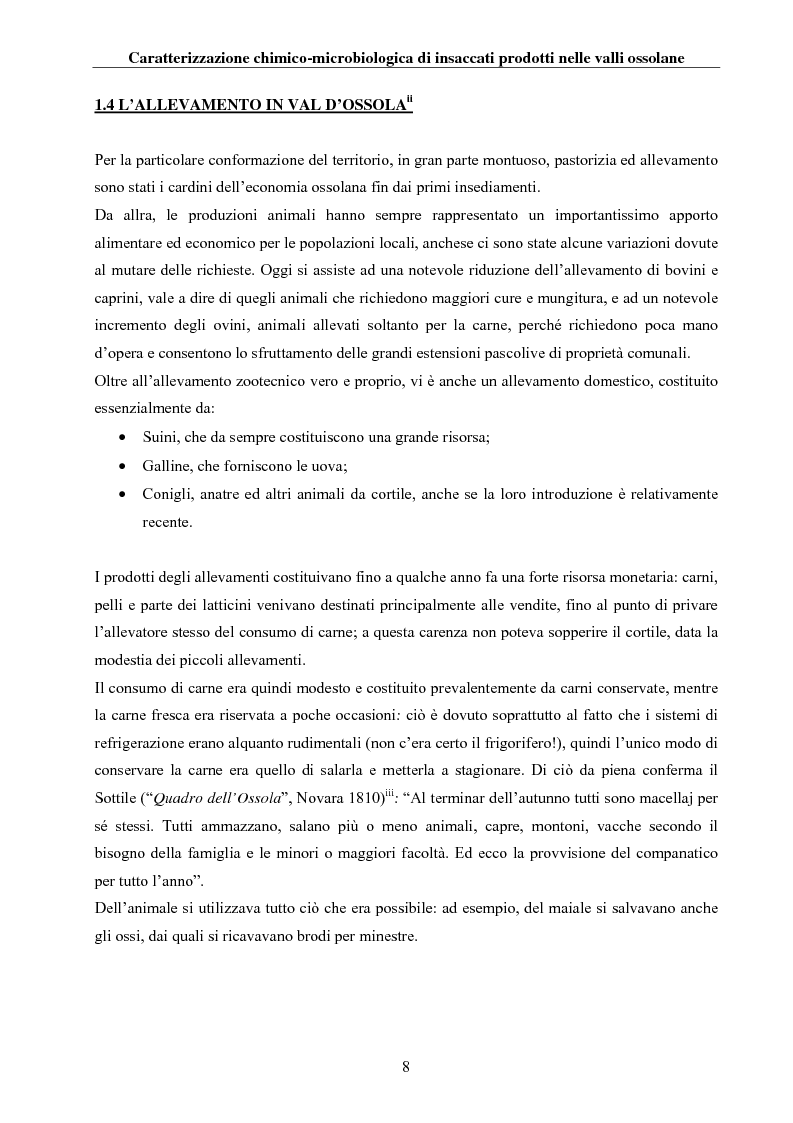 Anteprima della tesi: Caratterizzazione chimico-microbiologica di insaccati prodotti nelle valli ossolane, Pagina 7