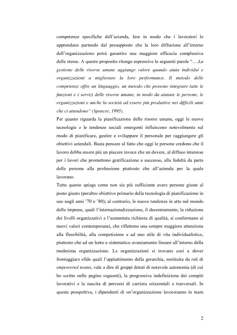 Anteprima della tesi: L'offerta formativa attivata in Italia nell' a.a. 2004/2005 in Gestione delle Risorse Umane, Pagina 2