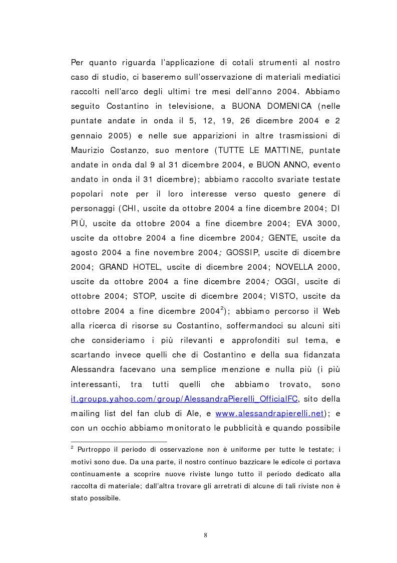 Anteprima della tesi: Personaggi mediatici contemporanei: il caso di Costantino, Pagina 5
