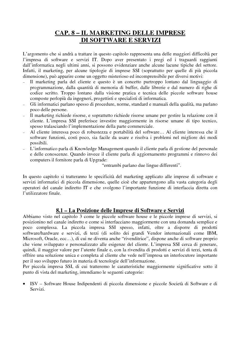 Anteprima della tesi: Problematiche di Marketing dell'impresa di software e servizi informatici, Pagina 1
