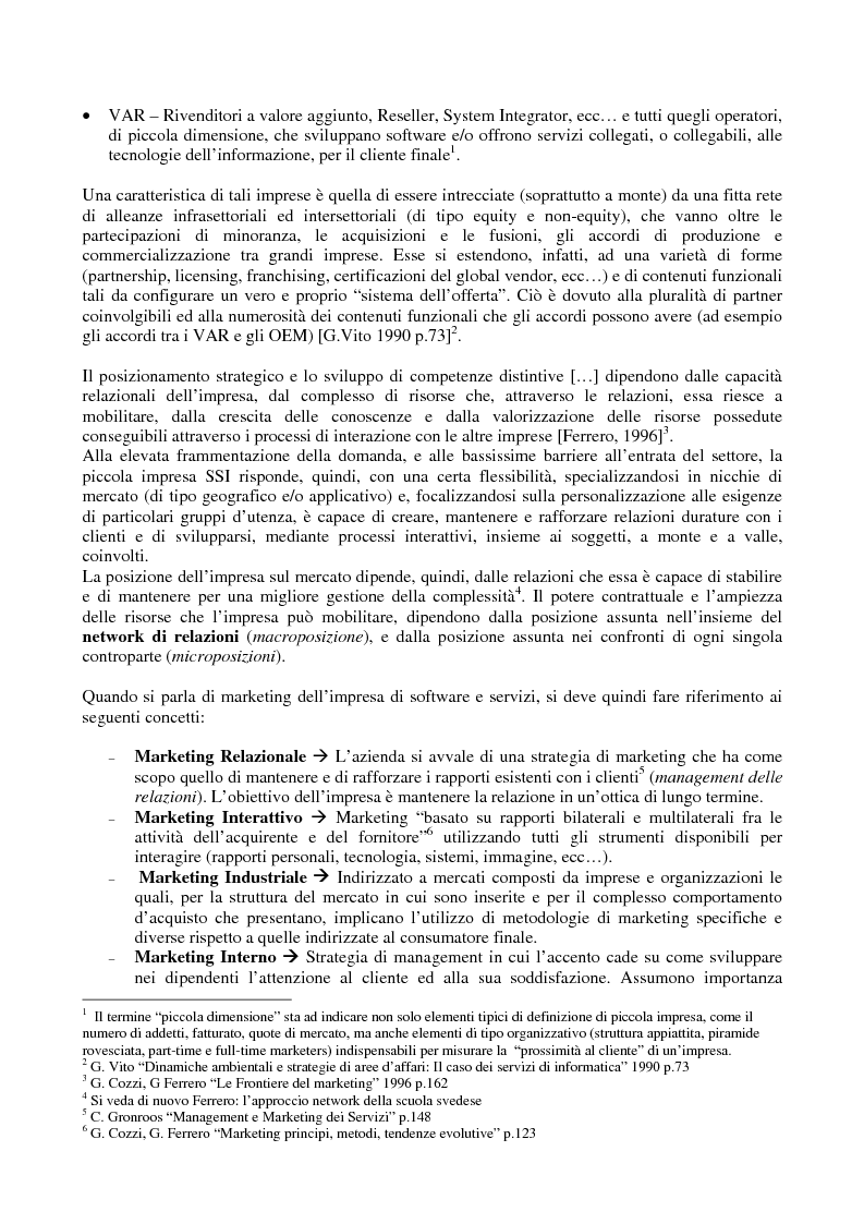 Anteprima della tesi: Problematiche di Marketing dell'impresa di software e servizi informatici, Pagina 2