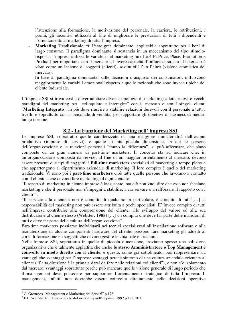 Anteprima della tesi: Problematiche di Marketing dell'impresa di software e servizi informatici, Pagina 3