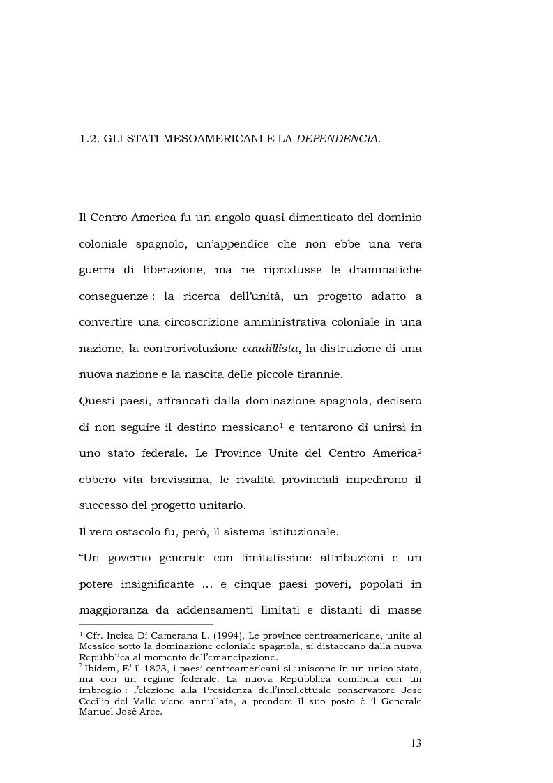 Anteprima della tesi: L'esportazione della democrazia l'esperienza statunitense in America centrale, Pagina 13