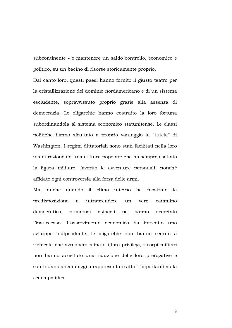 Anteprima della tesi: L'esportazione della democrazia l'esperienza statunitense in America centrale, Pagina 3