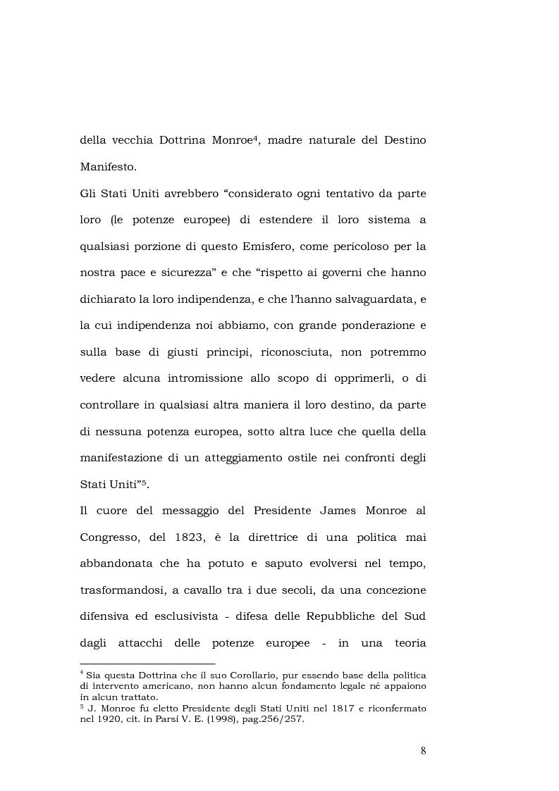 Anteprima della tesi: L'esportazione della democrazia l'esperienza statunitense in America centrale, Pagina 8
