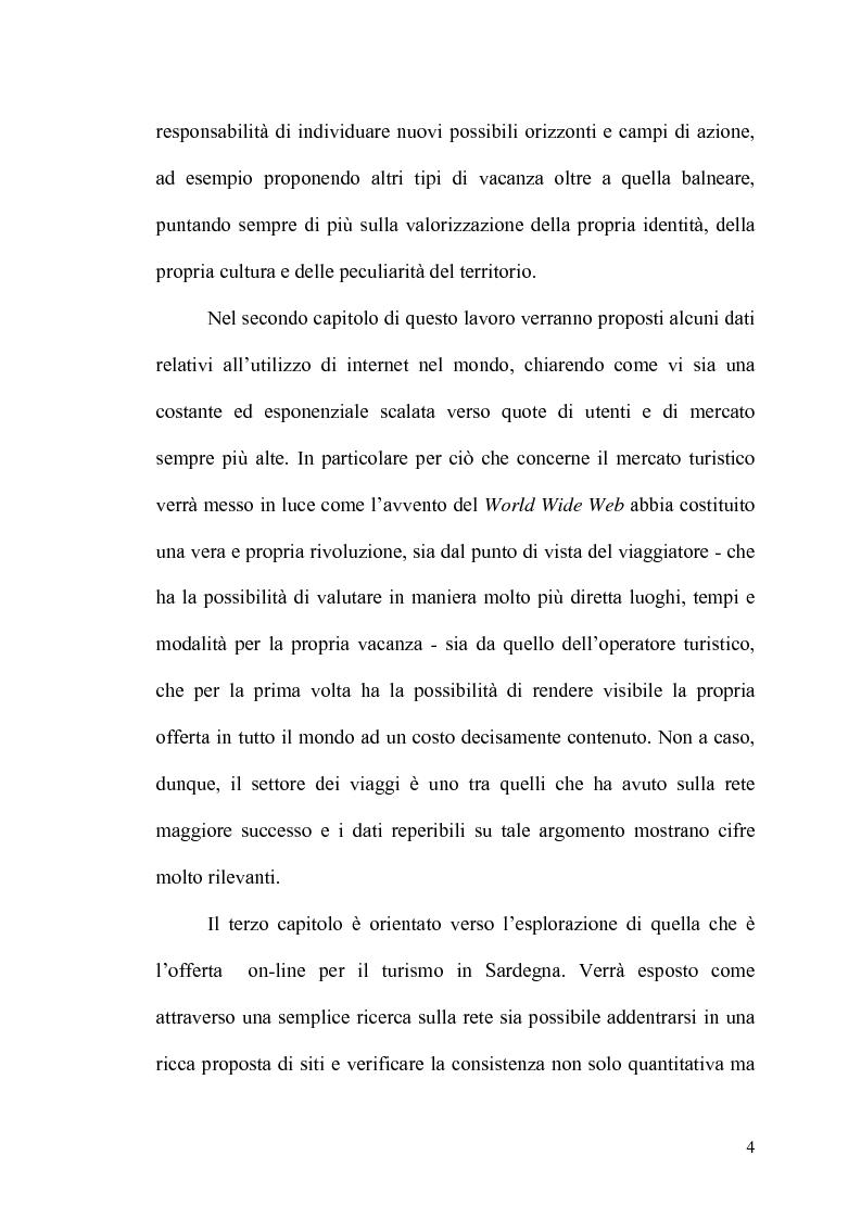Anteprima della tesi: Internet: un valore aggiunto per il turismo in Sardegna?, Pagina 3