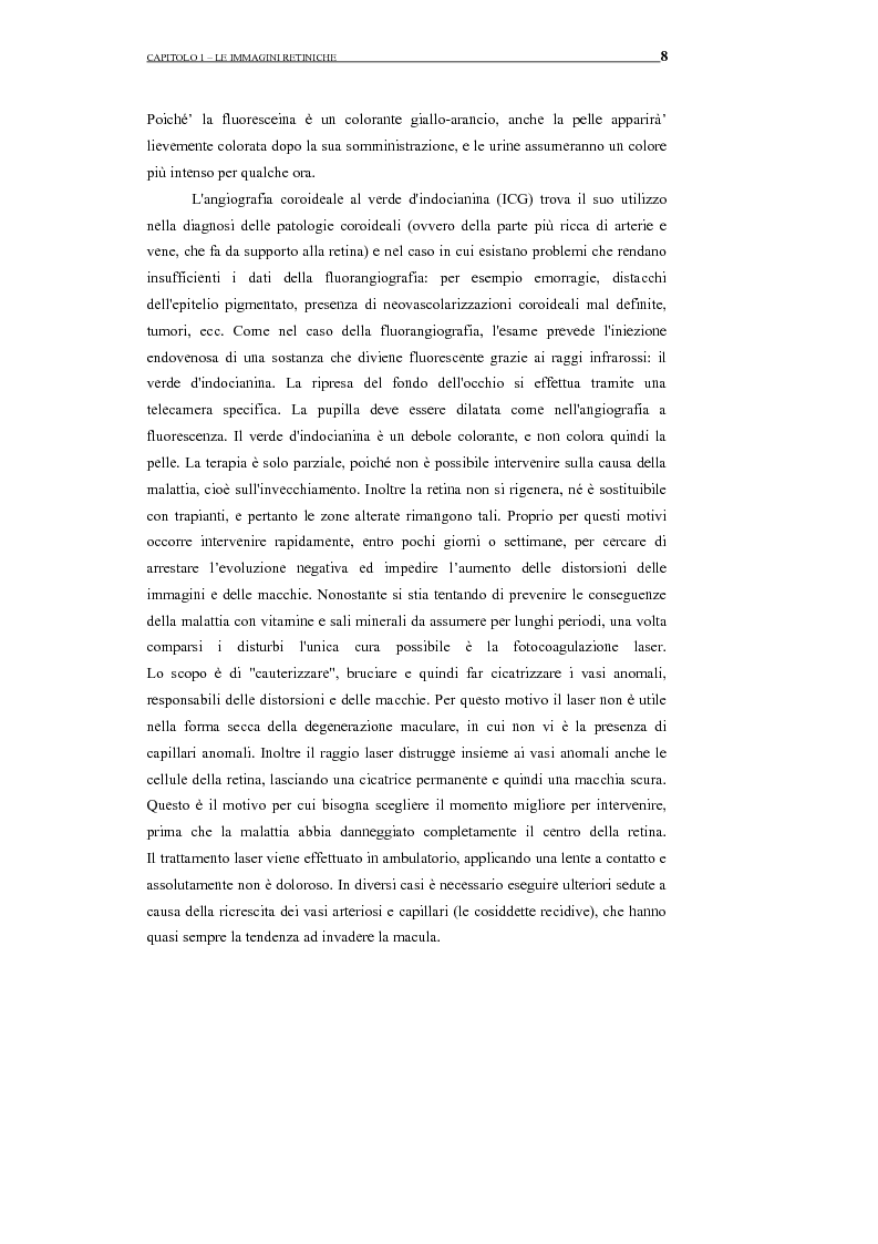 Anteprima della tesi: Identificazione del profilo vascolare in immagini fluoroangiografiche della retina tramite Active Contour Models, Pagina 12