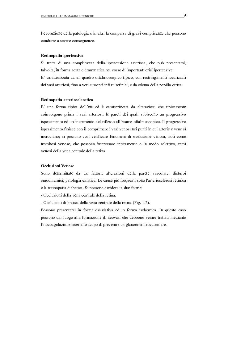 Anteprima della tesi: Identificazione del profilo vascolare in immagini fluoroangiografiche della retina tramite Active Contour Models, Pagina 9