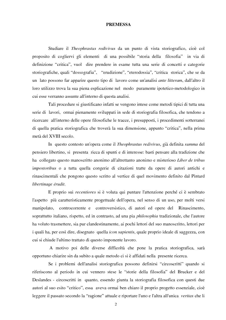 Anteprima della tesi: Il seicentesco Theophrastus redivivus come fonte storiografica, Pagina 1