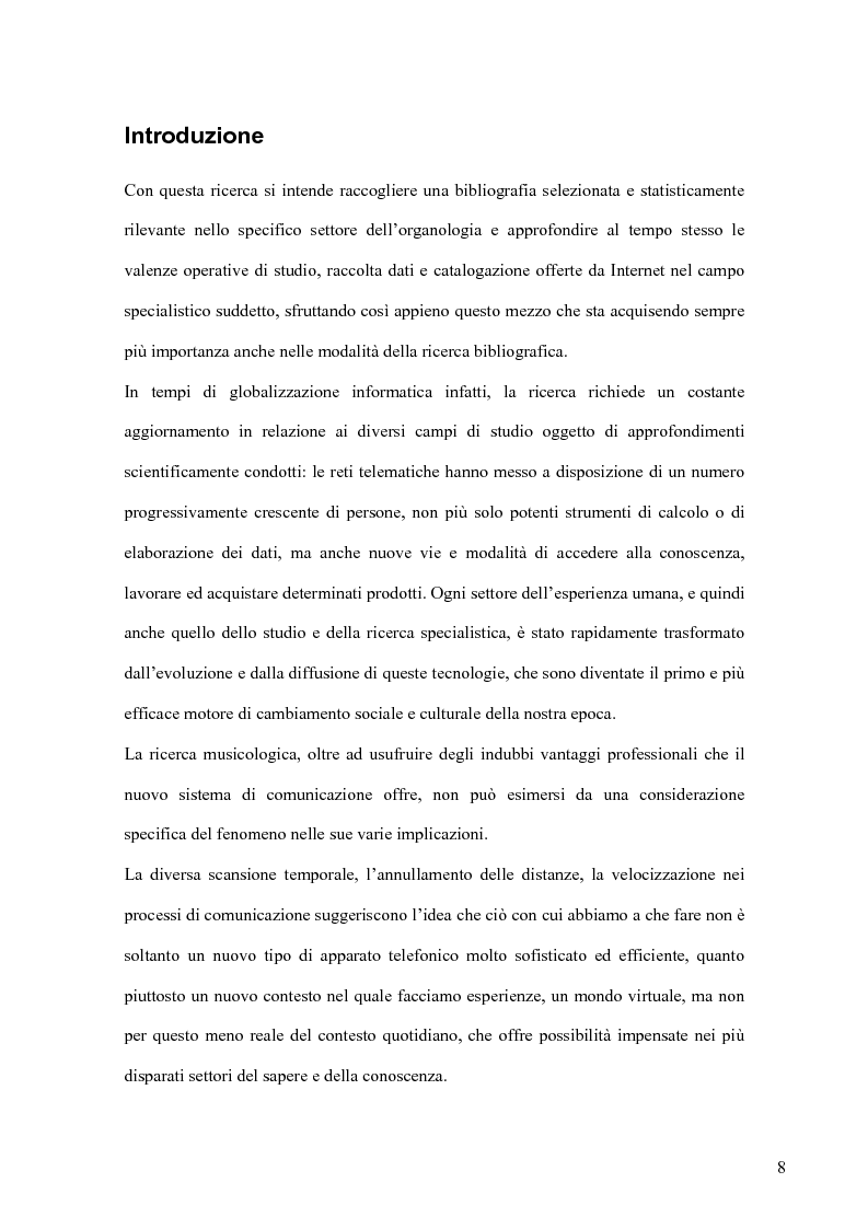 Anteprima della tesi: Cento anni di studi liutari: una bibliografia organologica verificata tramite internet, Pagina 6