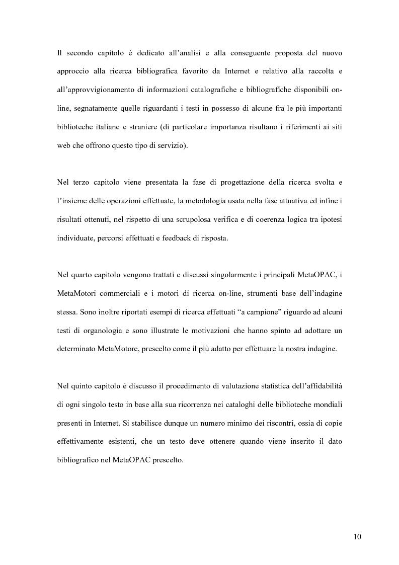 Anteprima della tesi: Cento anni di studi liutari: una bibliografia organologica verificata tramite internet, Pagina 8