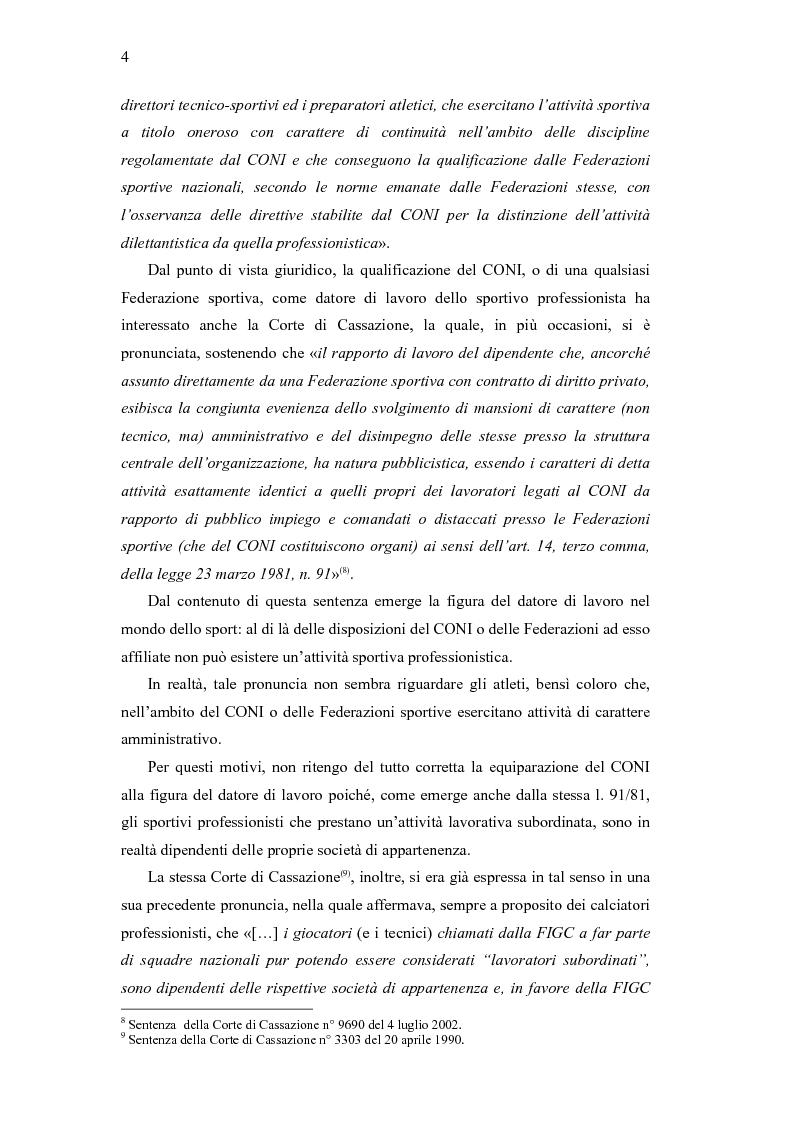 Anteprima della tesi: La libera circolazione degli sportivi, Pagina 4