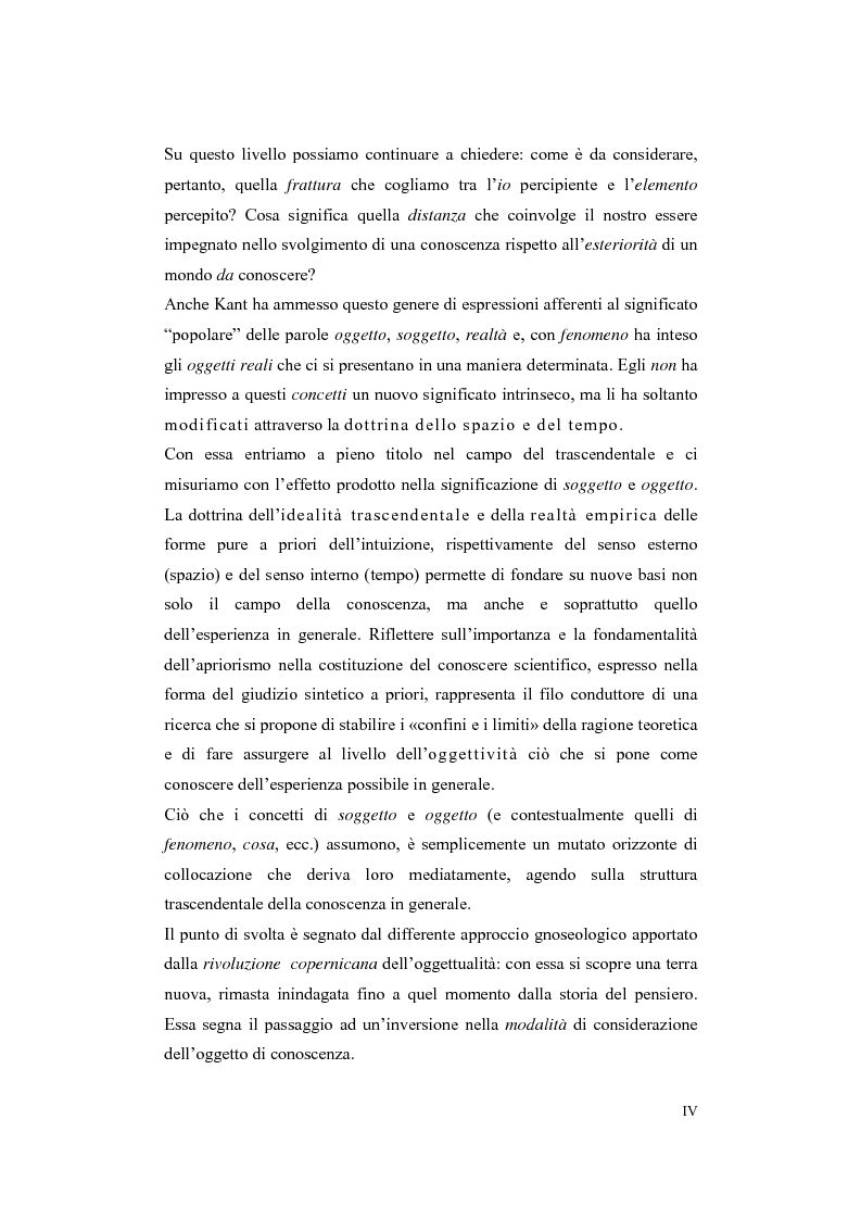 Anteprima della tesi: Trascendenza e immanenza nel trascendentalismo kantiano, Pagina 4