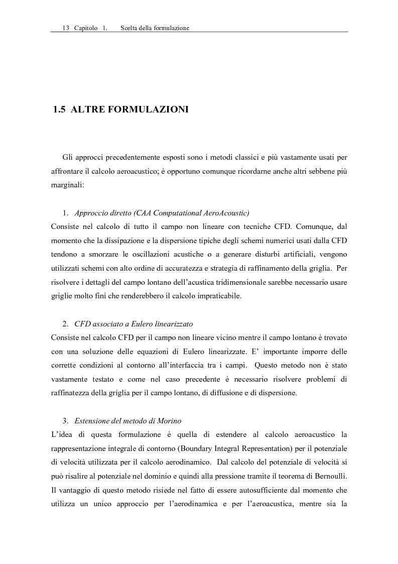 Anteprima della tesi: Sviluppo di un codice di aeroacustica basato sulla formulazione di Ffwocs Williams-Hawkings nella forma di Farassat, Pagina 15