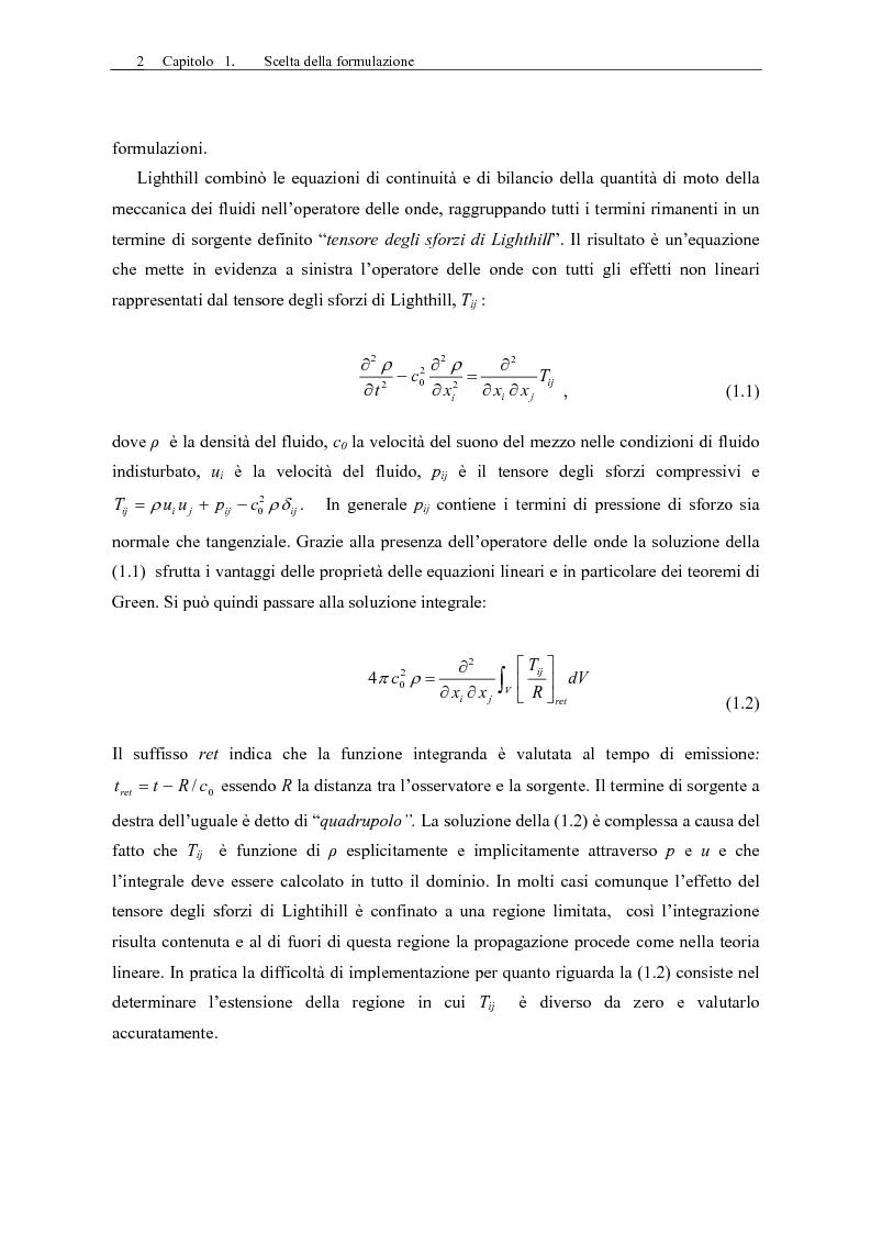 Anteprima della tesi: Sviluppo di un codice di aeroacustica basato sulla formulazione di Ffwocs Williams-Hawkings nella forma di Farassat, Pagina 4