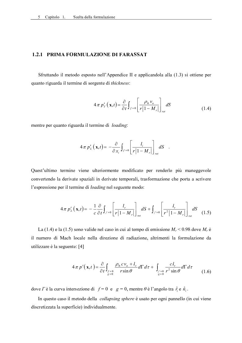 Anteprima della tesi: Sviluppo di un codice di aeroacustica basato sulla formulazione di Ffwocs Williams-Hawkings nella forma di Farassat, Pagina 7