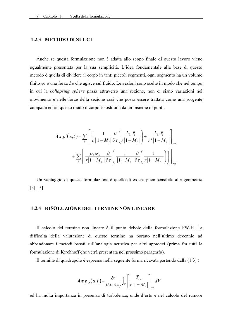 Anteprima della tesi: Sviluppo di un codice di aeroacustica basato sulla formulazione di Ffwocs Williams-Hawkings nella forma di Farassat, Pagina 9