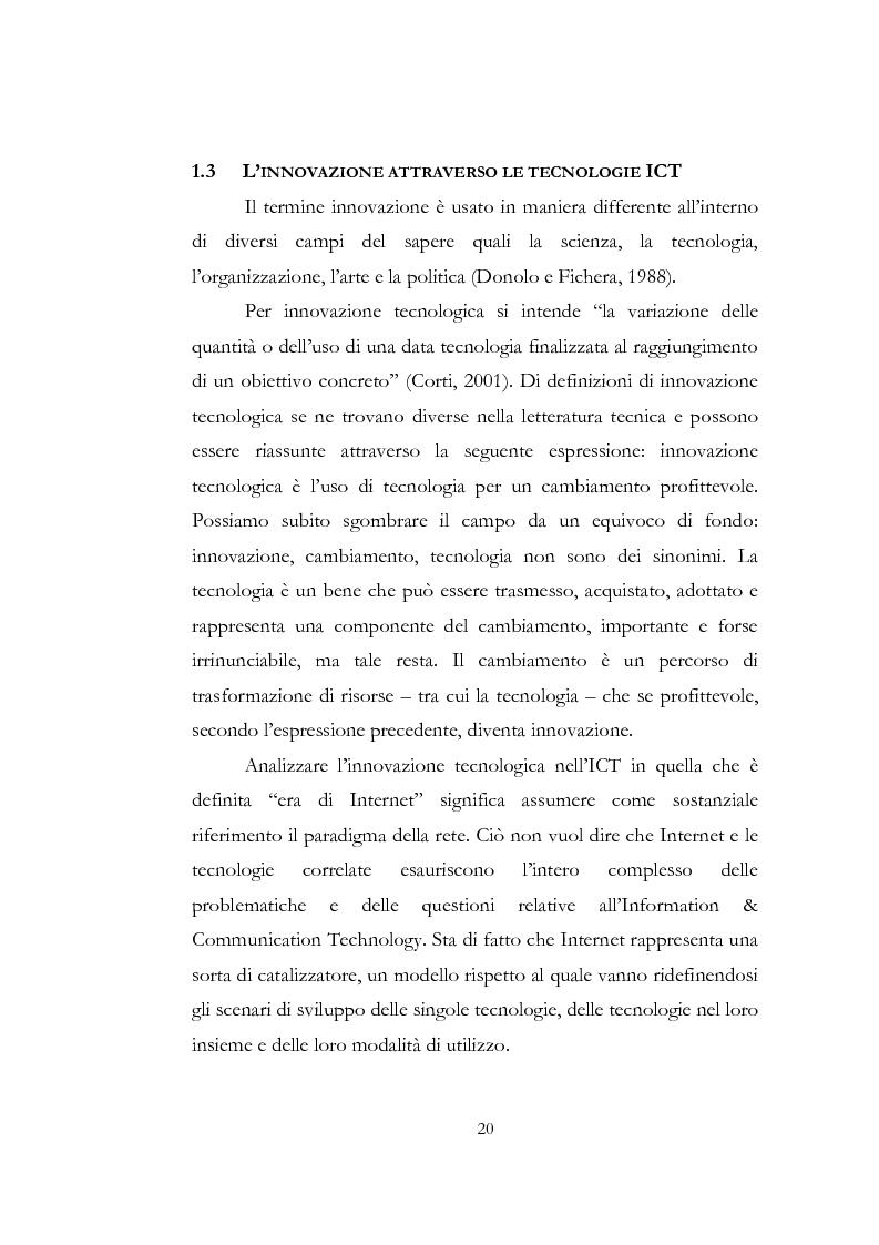 Anteprima della tesi: Problematiche relative alle implicazioni organizzative dell'implementazione delle ICT. Il caso SAP HR di Shared Service Center by Pirelli & Telecom Italia, Pagina 13
