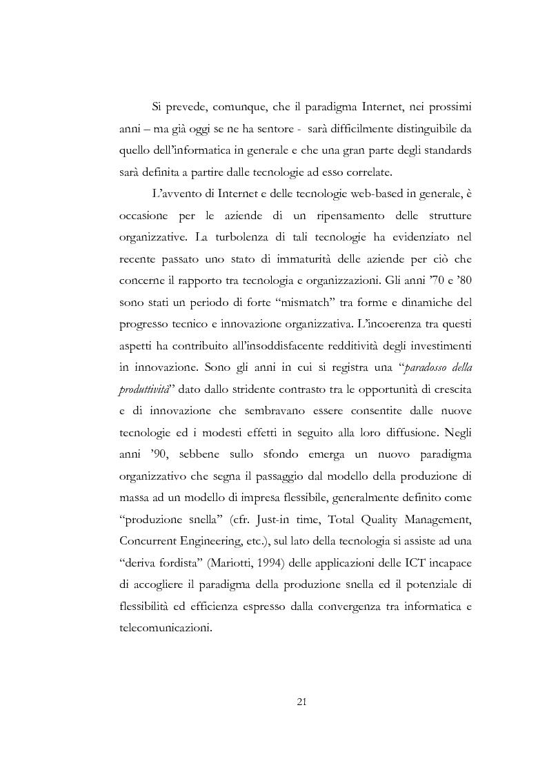 Anteprima della tesi: Problematiche relative alle implicazioni organizzative dell'implementazione delle ICT. Il caso SAP HR di Shared Service Center by Pirelli & Telecom Italia, Pagina 14