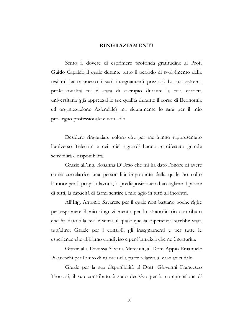 Anteprima della tesi: Problematiche relative alle implicazioni organizzative dell'implementazione delle ICT. Il caso SAP HR di Shared Service Center by Pirelli & Telecom Italia, Pagina 3