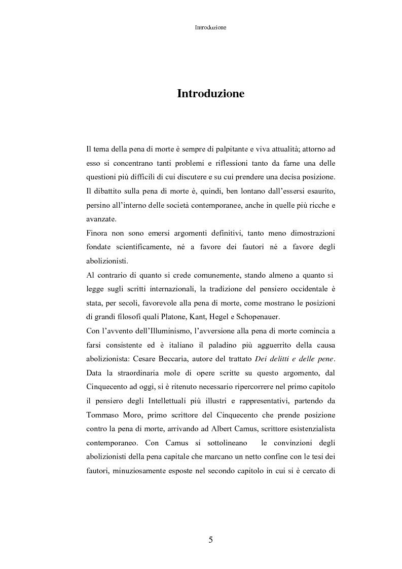 Anteprima della tesi: L'Influenza Mediatica nella Pena di Morte, Pagina 1