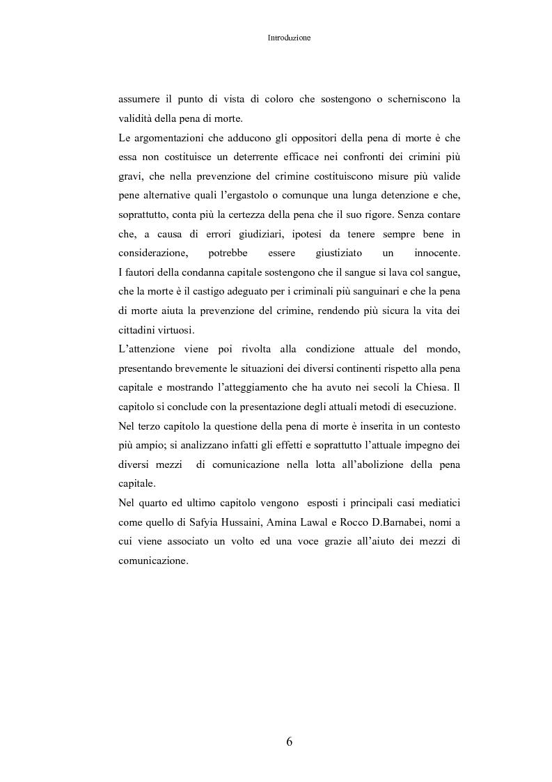 Anteprima della tesi: L'Influenza Mediatica nella Pena di Morte, Pagina 2