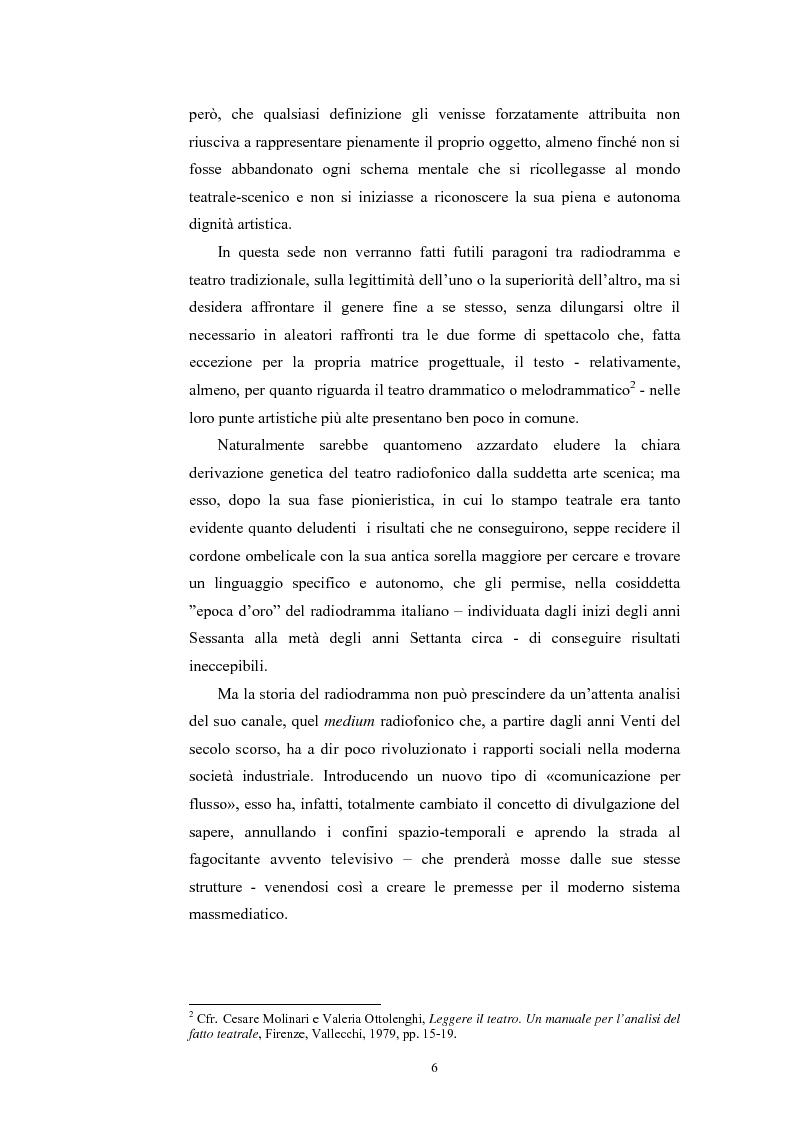 Anteprima della tesi: La poesia dello spazio. Il teatro radiofonico in Italia (1924-1974), Pagina 2