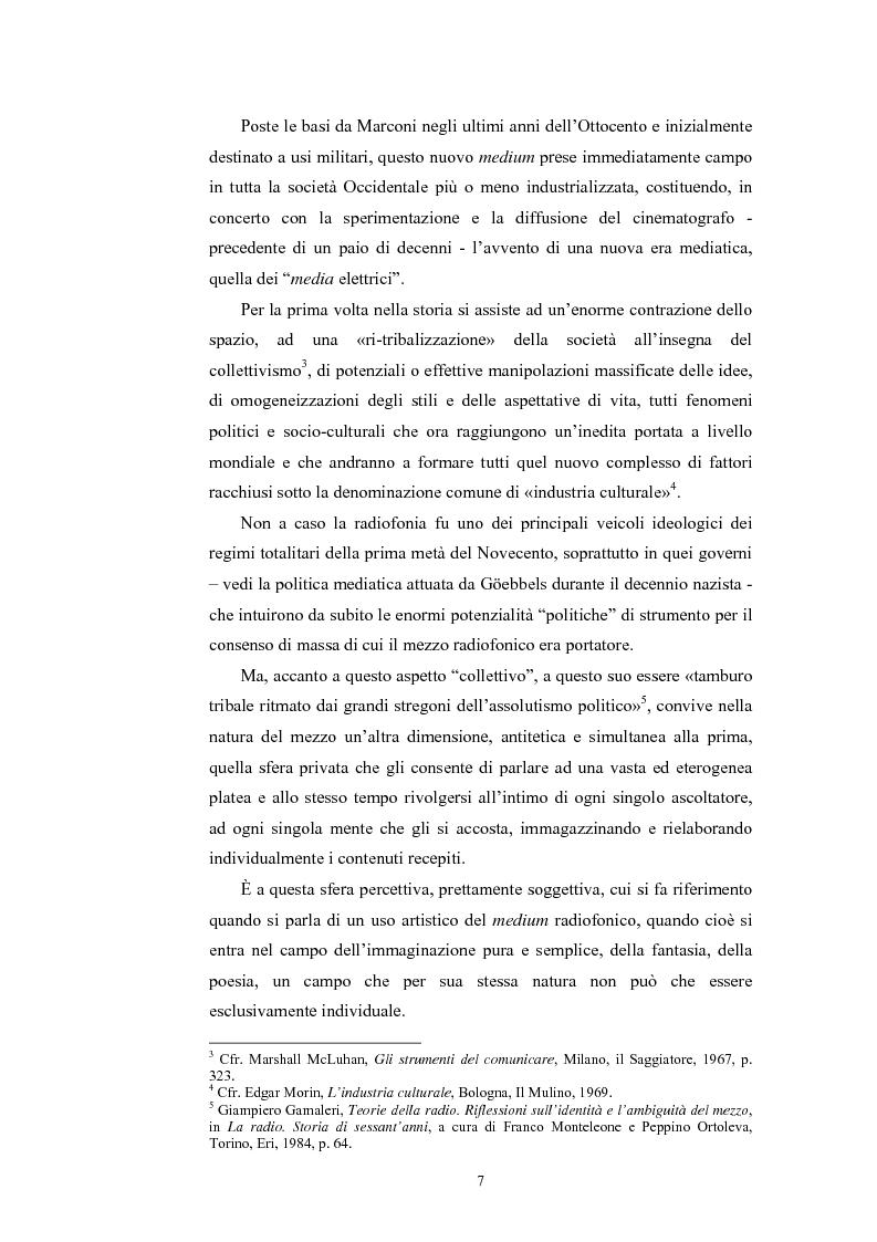 Anteprima della tesi: La poesia dello spazio. Il teatro radiofonico in Italia (1924-1974), Pagina 3
