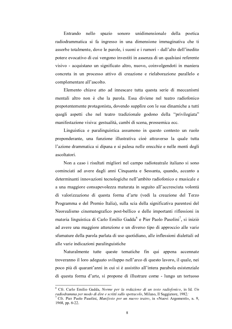 Anteprima della tesi: La poesia dello spazio. Il teatro radiofonico in Italia (1924-1974), Pagina 4